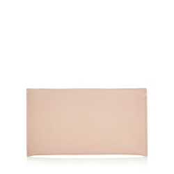 Pink patent clutch bag