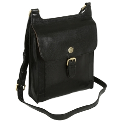 Black  leather cross-body bag
