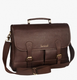 Justanned Brown Leather Sling Bag