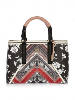 River Island Printed Floral Panel Tote