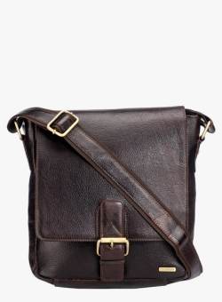 Teakwood Brown Leather Sling Bag