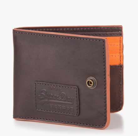 Superdry Tab Brown Leather Wallet