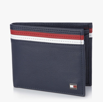 Tommy Hilfiger Richon Navy Blue Leather Wallet