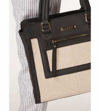 Black and nude tote bag