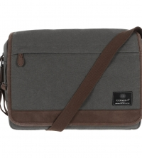 Conkca London Slate  canvas and leather messenger bag