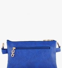 Blue Leather Sling Bag