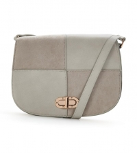 V by Very Patchwork Saddle Bag