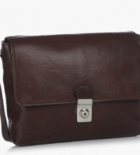 Hidesign Jester 01 Brown Leather Messenger Bag