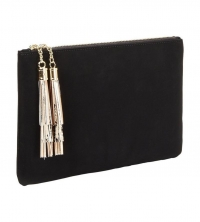V by Very Tassel Clutch Bag - Black