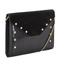 V by Very Studded Clutch - Black