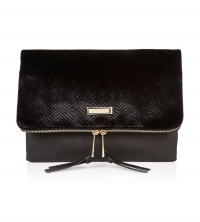 River Island Textured Velvet Clutch Bag