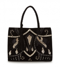Premium Statement Suede Embellished Tote Bag